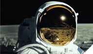 Reflection in astronaut's visor