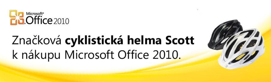 Získejte k nákupu Microsoft Office 2010 cyklistickou helmu Scott
