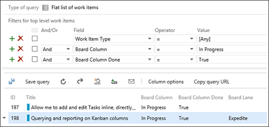 Query and display of Kanban fields