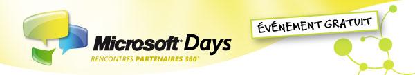 Microsoft Days - Rencontres partenaires 360°