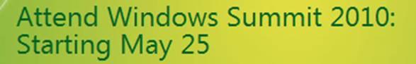 Windows Summit 2010
