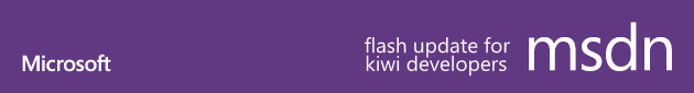 msdn flash update for kiwi developers
