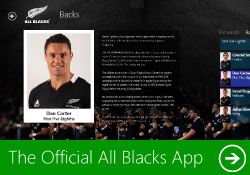Download Official All Blacks Windows 8 App