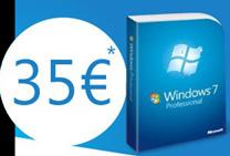 Télécharger Windows 7 à 35€