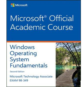 image of the Microsoft Official Academic Course textbook for Windows Operating System Fundamentals