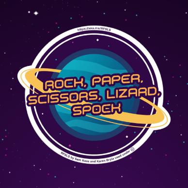Logo du jeu Rock, Paper, Scissors, Lizard, Spock.