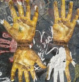 Empreintes de mains.