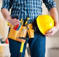 Ouvrier sur un chantier.