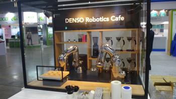 IoT で実現したコーヒー バリスタ ロボット