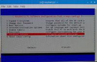 写真 2:<br /> raspi-config を&lt;br&gt;起動した画面。