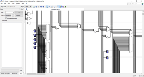FPGA 設計画面 (RTL Viewer) の一例