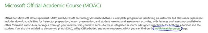 microsoft official academic