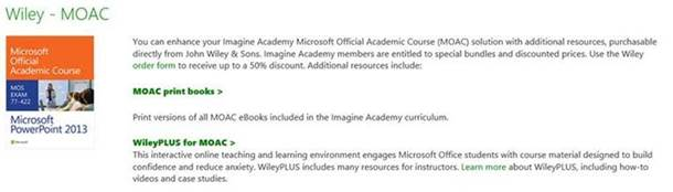 microsoft official academic courseware