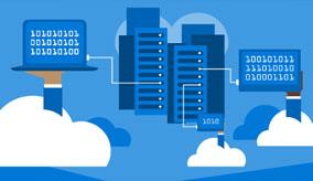 Grafische Darstellung der Hybrid Cloud mit Link auf eine Webinarreihe zu SAP auf Azure