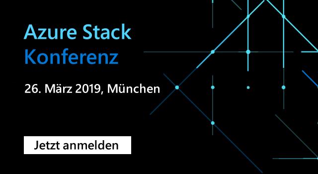 Banner mit Link auf die Azure Stack Konferenz