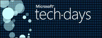 Microsoft TechDays 2011 - Derniers jours pour vous inscrire !